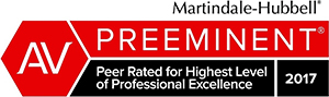 Martindale-Hubbell Preeminent - Peer Rated for Highest Level of Professional Excellence